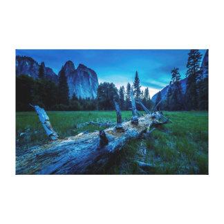 El Capitan Meadows at Twilight Canvas Print