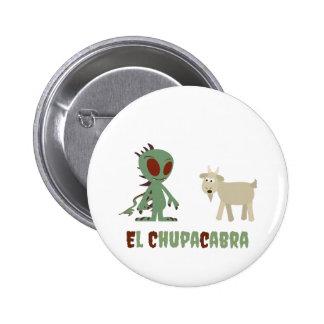 El Chupacabra 2 Inch Round Button