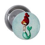 El Dia de Muertos Mermaid Macaron Rond 5 Cm