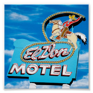 El Don Motel Day Version on Route 66 Poster