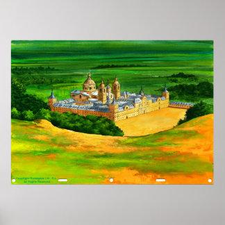 El Escorial - as seen from Monte Abantos Poster