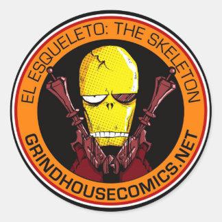 EL ESQUELETO: THE SKELETON Sticker (Round)