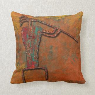 El Flautista (The Flute Player) Throw Pillow