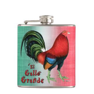 El Gallo Grande Hip Flask