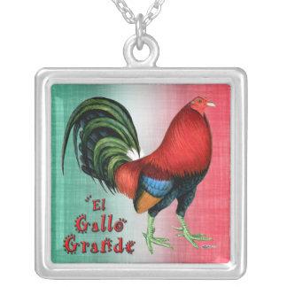 El Gallo Grande Silver Plated Necklace