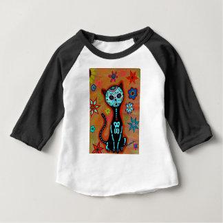 EL GATO DIA DE LOS MUERTOS CAT PAINTING BABY T-Shirt