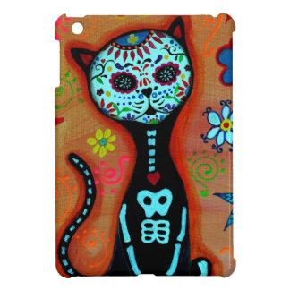 EL GATO DIA DE LOS MUERTOS CAT PAINTING iPad MINI CASE