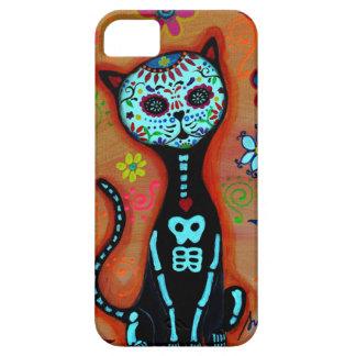 EL GATO DIA DE LOS MUERTOS CAT PAINTING iPhone 5 COVERS