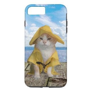 El Gato Fisherman Cat in Rain Slicker iPhone 7 Plus Case