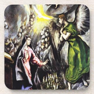 El Greco Annunciation Virgin Mary Coasters