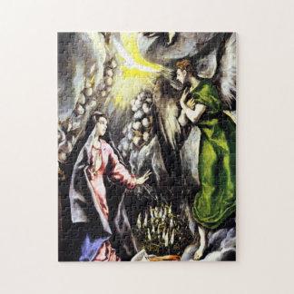 El Greco Annunciation Virgin Mary Puzzle