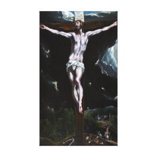 El Greco Christ On The Cross Canvas Print
