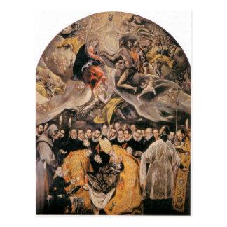El Greco - dOrgaz de LEnterrement du Comte Cartes Postales