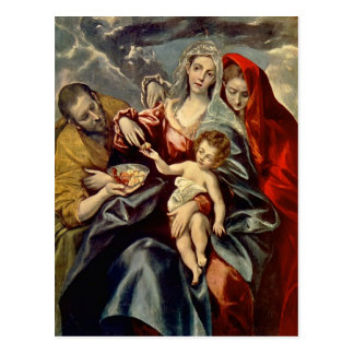 El Greco- Holy Family Postcard