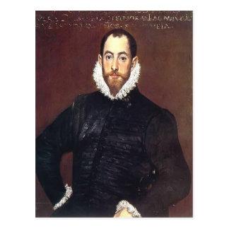 El Greco- Portrait of a gentleman from Casa Leiva Postcard