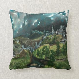 El Greco View Of Toledo Throw Pillow