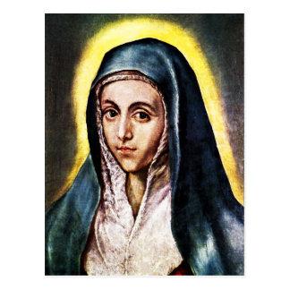 El Greco Virgin Mary Postcard