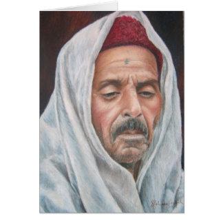 El Jem Man Contemplating Card
