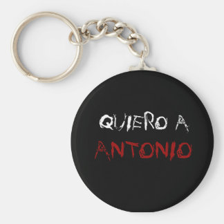 el llavero de antonio basic round button keychain