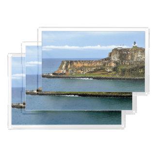 El Morro Guarding San Juan Bay Acrylic Tray