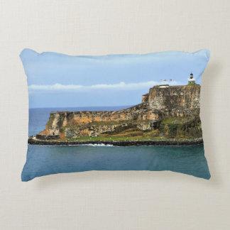 El Morro Guarding San Juan Bay Entrance Accent Pillow