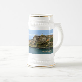 El Morro Guarding San Juan Bay Entrance Beer Stein