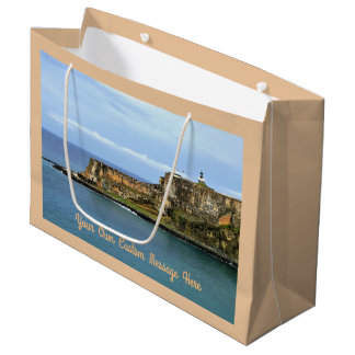 El Morro Guarding San Juan Bay Entrance Custom Large Gift Bag