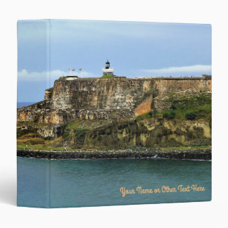 El Morro Guarding San Juan Bay Entrance Custom Vinyl Binders
