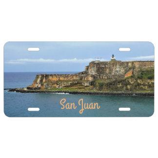 El Morro Guarding San Juan Bay Entrance License Plate