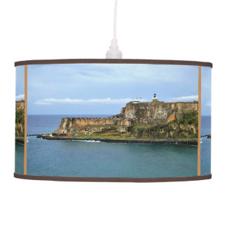 El Morro Guarding San Juan Bay Entrance Pendant Lamp