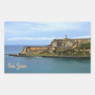 El Morro Guarding San Juan Bay Entrance Sticker