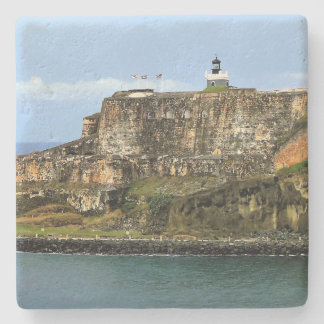 El Morro Guarding San Juan Bay Entrance Stone Coaster