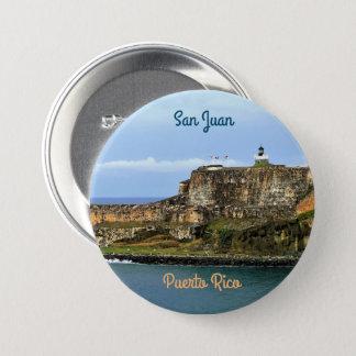 El Morro Guarding San Juan Bay Puerto Rico 3 Inch Round Button