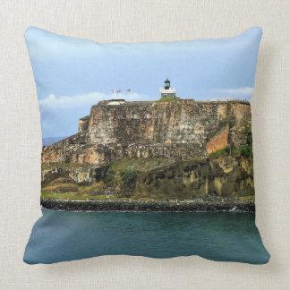 El Morro Guarding San Juan Bay Throw Pillow
