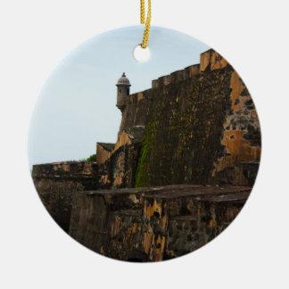 El Morro Puerto Rico Round Ceramic Ornament