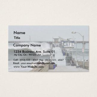 El Nino Waves Piers Ocean Seagulls Business Card