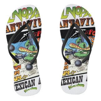 El Nopal Cantavivo Slim Straps Flip Flops