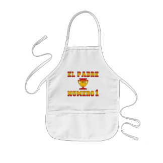 El Padre Número 1 #1 Dad in Spanish Father's Day Kids Apron