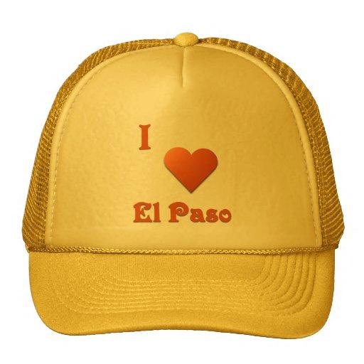 El Paso -- Burnt Orange Mesh Hats