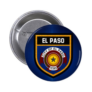El Paso  Flag 2 Inch Round Button