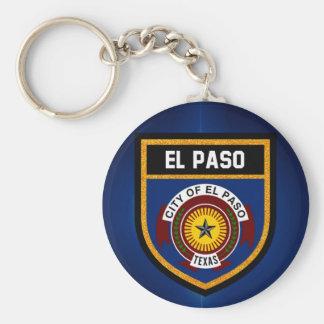 El Paso  Flag Basic Round Button Keychain