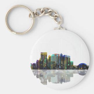 El Paso Texas Skyline Basic Round Button Keychain