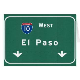 El Paso Texas tx Interstate Highway Freeway Road : Card
