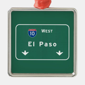 El Paso Texas tx Interstate Highway Freeway Road : Metal Ornament