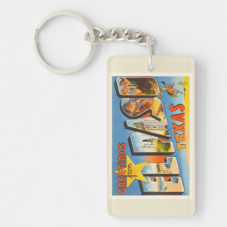 El Paso Texas TX Old Vintage Travel Souvenir Keychain