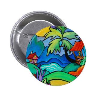 El Sabo  Dominican Fantasy 2 Inch Round Button