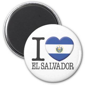 El Salvador 2 Inch Round Magnet