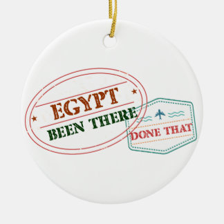 El Salvador Been There Done That Round Ceramic Ornament