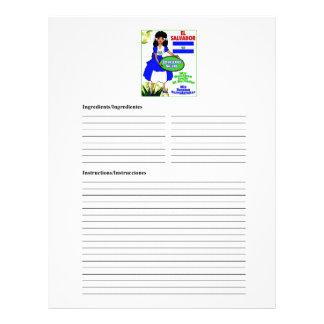 El Salvador blank salad recipe cards Letterhead Design