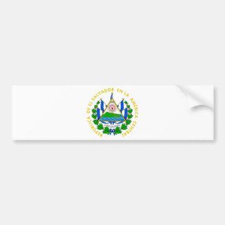 El Salvador Coat of Arms Bumper Sticker